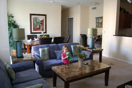 Cane Island Resort: Living area of our condo