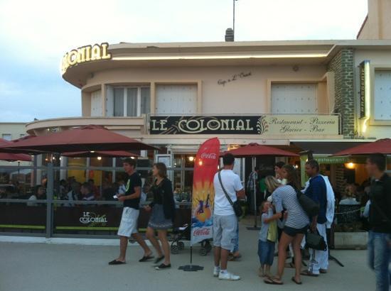 Le Colonial : le restaurant côté plage