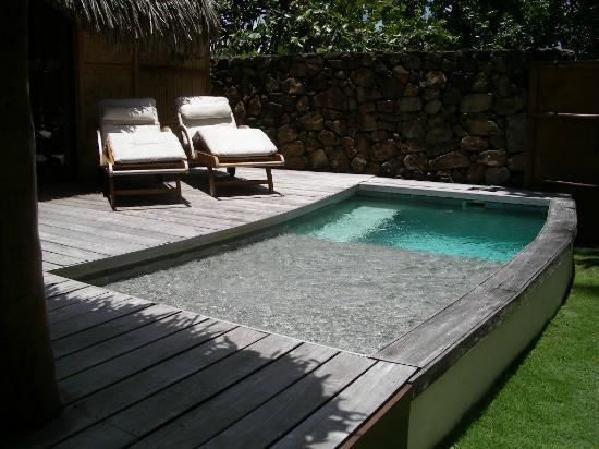 Le Taha'a Island Resort & Spa: Piscina en jardín privado