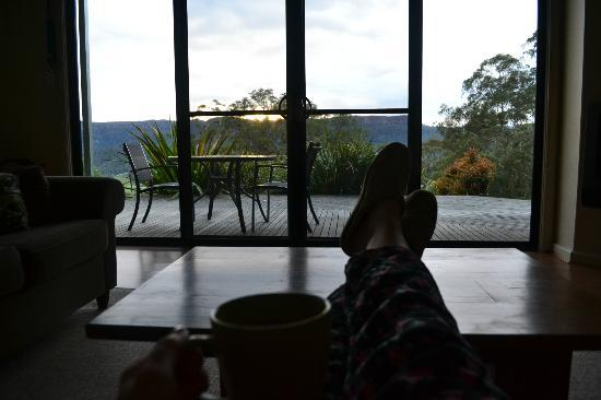 The Heavens Mountain Escape : Watching the sunrise with a coffee!
