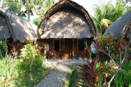 Puri Bali Hotel: bungalows avant la piscine