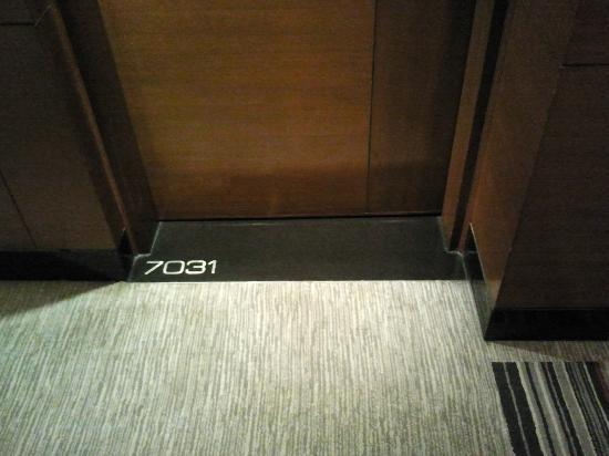 Crowne Plaza Hotel Gurgaon: Room number is written on the ground