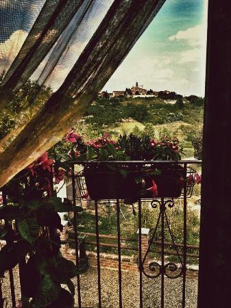 La Lignenga: panorama dalla sala colazione....