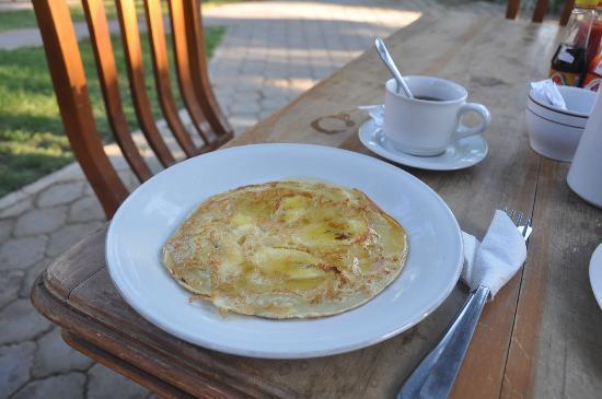 Badini Homestay: banana ancake from breakfast