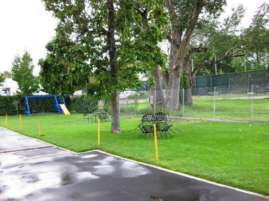 Elms Motel : Lawn w/playground