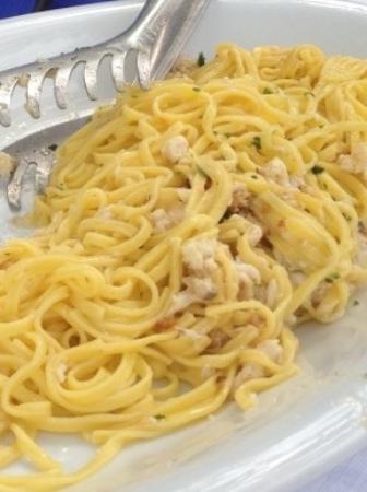 Manerba del Garda, Italy: tagliolini al coregone