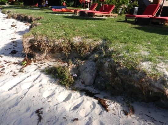 Bunga Raya Island Resort & Spa: spiaggia e sporcizia