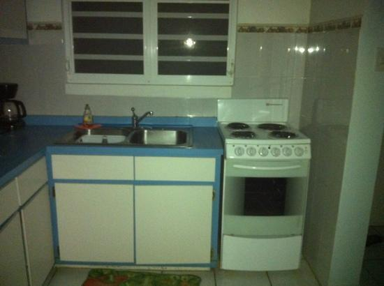 Villa Tropical Oceanfront Apartments on Shacks Beach: kitchen in R1