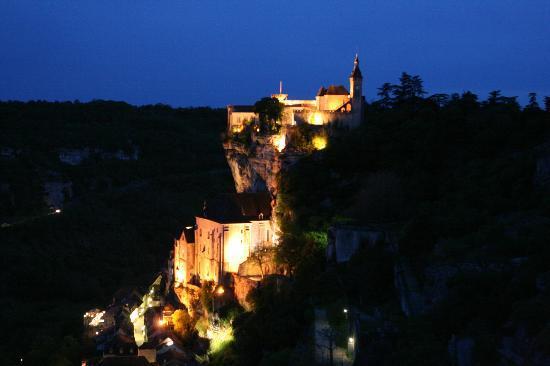 Hotel Les Esclargies: Rocamadour la nuit