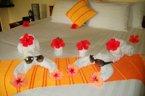 Sleeping Giant Lodge: more towel animals