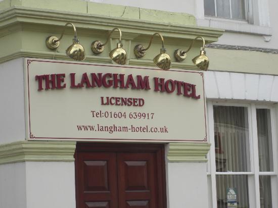 The Langham Hotel: Signage