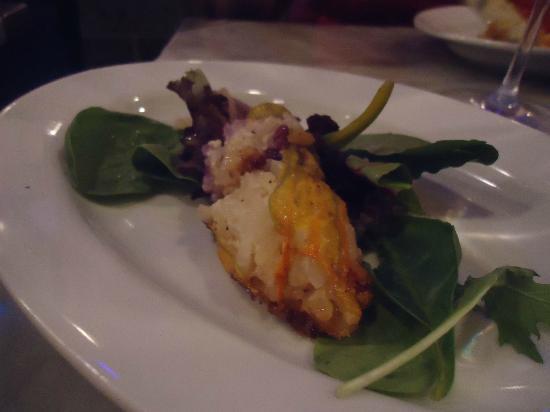 Enoteca Maria: la fleur de courgette farçie