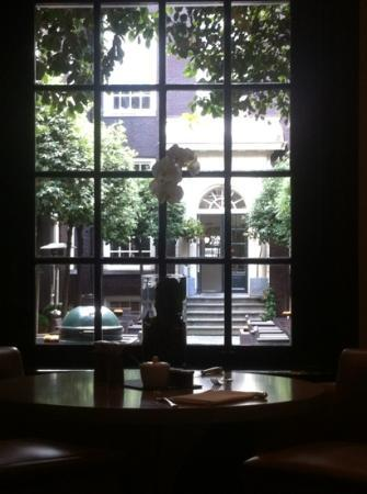 The Dylan Amsterdam: view from the reasturant room