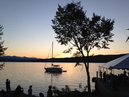 Basin Harbor: sunset from the north dock
