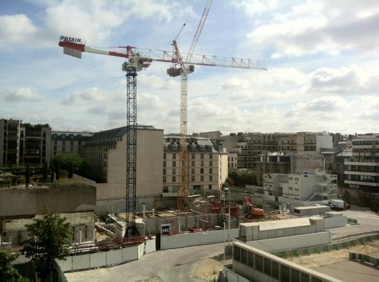 Hotel Etoile Saint-Honore by HappyCulture: view of building site from rooms ar rear of hotel