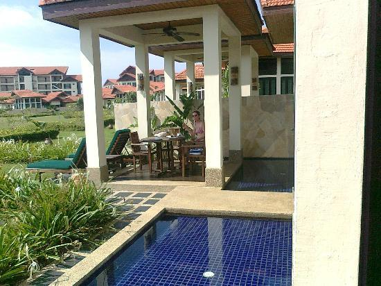 Nexus Resort & Spa Karambunai: Your deck - not too shady