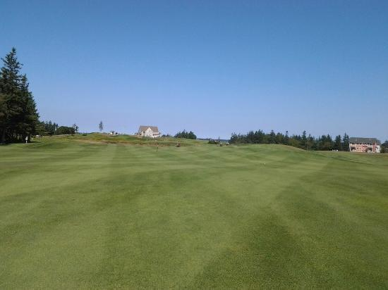 The Links at Crowbush Cove: Club house from #9