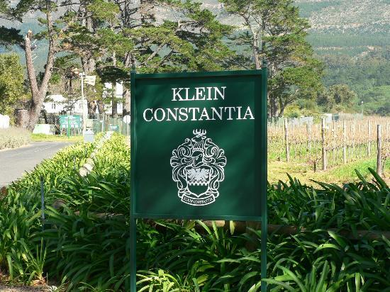 Klein Constantia: l'entrée du domaine