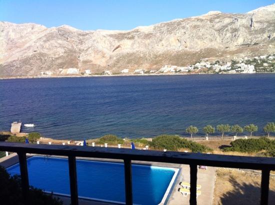 Telendos, اليونان: fra vores hotelværelse 