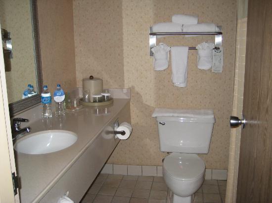 Bathroom Sinks Tucson sink in bathroom w/bottled water - picture of radisson hotel