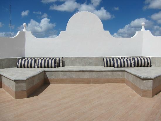Hotel Julamis: Terraza