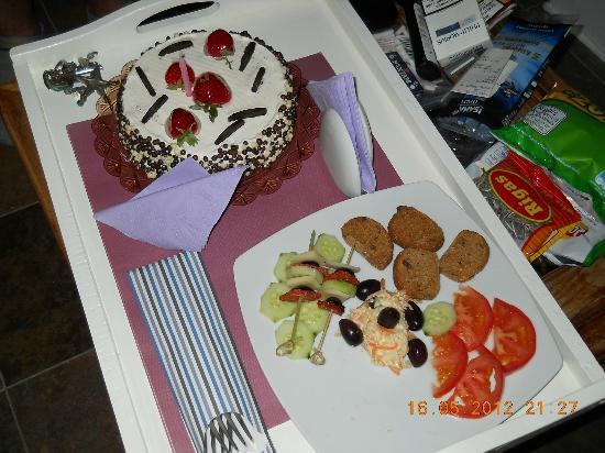 Afroessa Hotel: Super lieb, das Geschenk des Hotels zu meinem Geburtstag