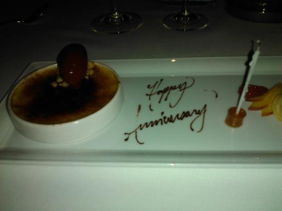 Canlis Restaurant: The Anniversary Dessert