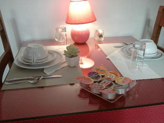 Hotel de Paris: Il tavolo della colazione