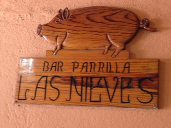 Bar-Restaurante Parrilla Las Nieves: cartel interior