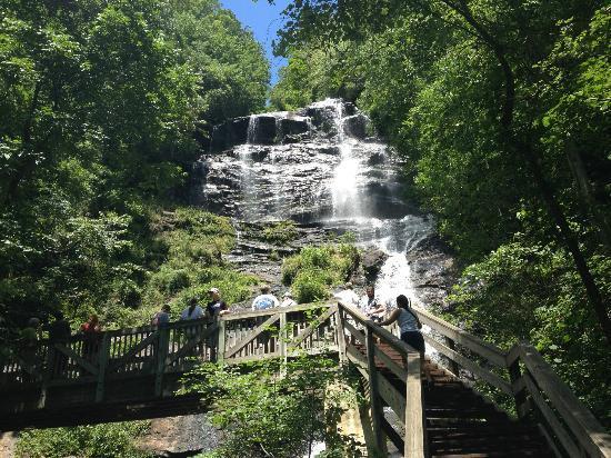 Amicalola Falls State Park: The bridge crossing the falls at the base.