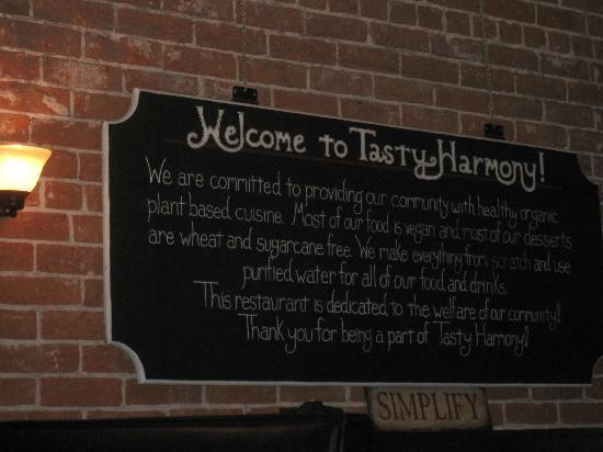 Tasty Harmony: Sign Inside
