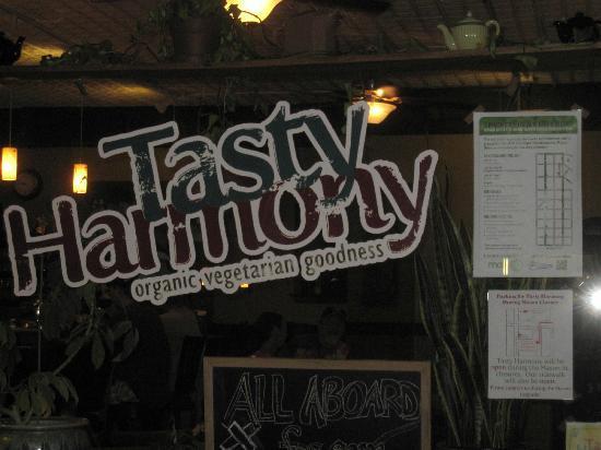 Tasty Harmony: Outside Sign