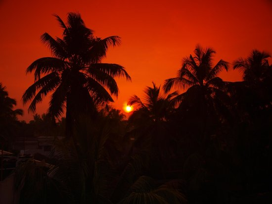 Beena Homestay: sunset from the roof