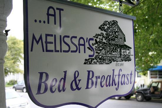 At Melissa's B&B: Welcome