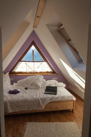 Koscielisko, Polônia: Hotel bedroom (last floor)