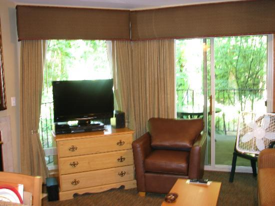 Whispering Woods Resort : Living Room