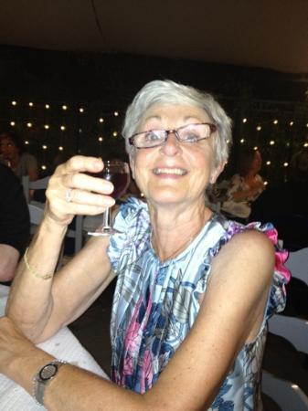 Camillo's Italian Restaurant : mum enjoying the complimentary port