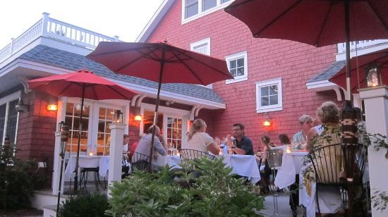 Outdoor dining at The Red Store, an evening in late August