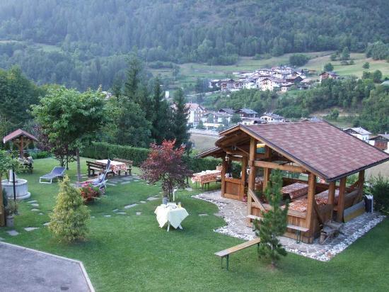 Hotel Genzianella: giardino posteriore