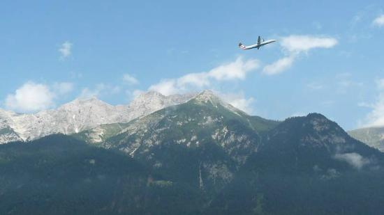 Penz Hotel West : View from the hotel. An aircraft leaving...