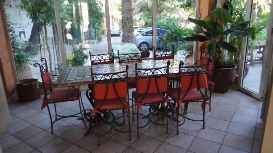Villa Valflor: inside breakfast room