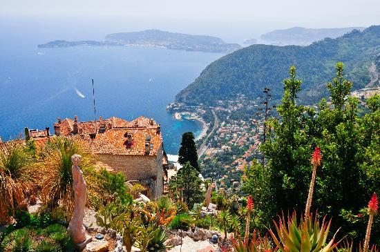 View from le jardin d 39 eze picture of le jardin exotique - Jardin exotique d eze ...
