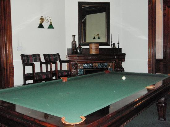 Reynolds Mansion Bed and Breakfast: billiards
