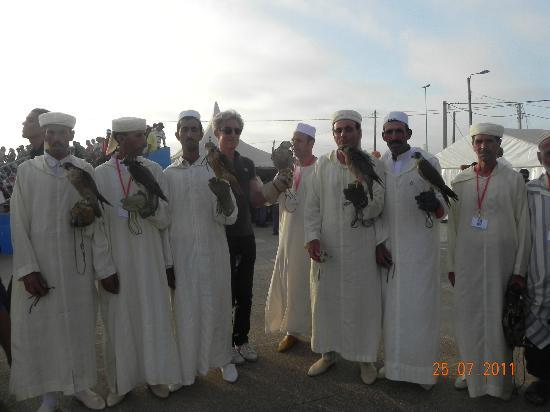 Doukkala-Abda Region, Morocco: fauconiers Moullay Abdalah