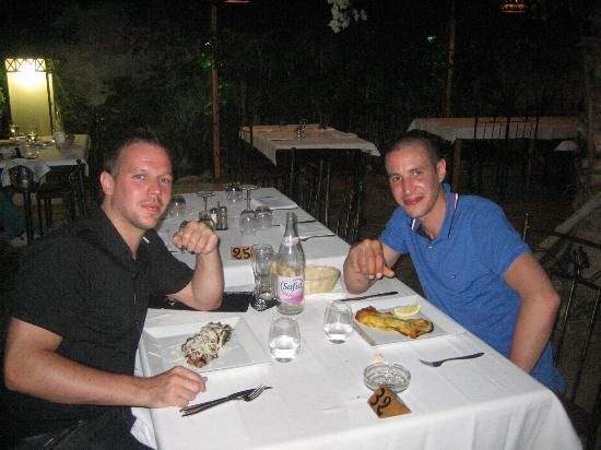 Da Franco: Dinner entre ami après un succulent tartare de loup de mer !!!