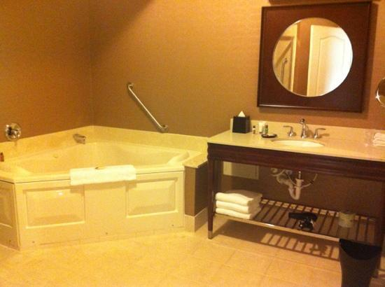 Sheraton Wilmington South: Deluxe Jacuzzi Suite: Bathroom part 1.