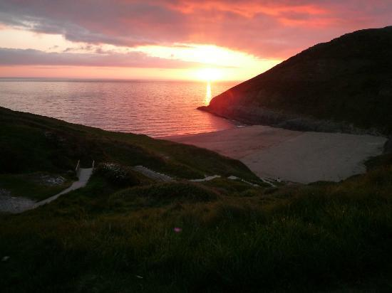 Cardigan, UK: More sunset on Mwnt beach