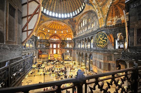 Hagia Sofia from upstairs - Picture of Hagia Sophia Museum ...
