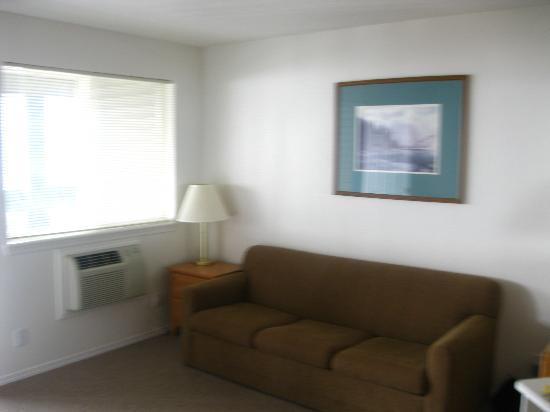 Marina View Condos: Living Room/ Pull-Out Couch