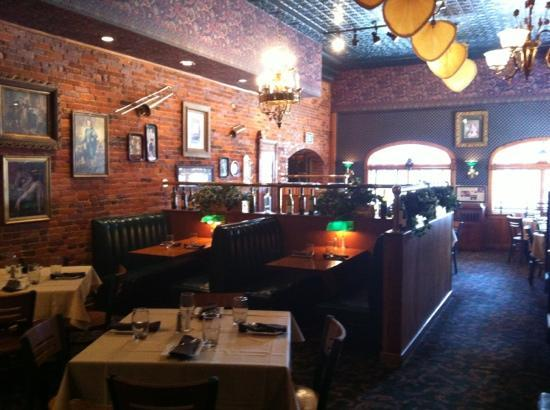 The Brass Cafe and Saloon: From booth at back of dining room
